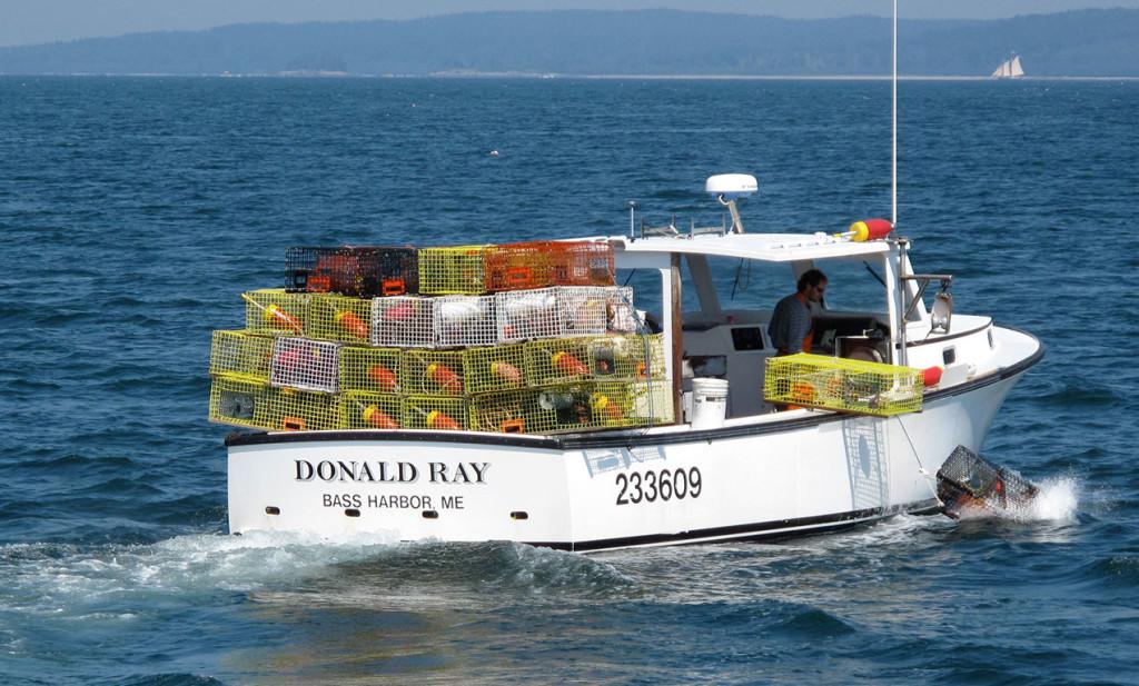 Ellis 36 Lobster Boat fishing Downeast Maine