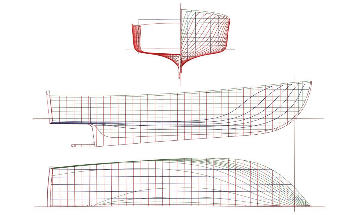 Ellis Downeast Semi-displacement Hull Design - Ellis Boat Company - Ellis Boat Company
