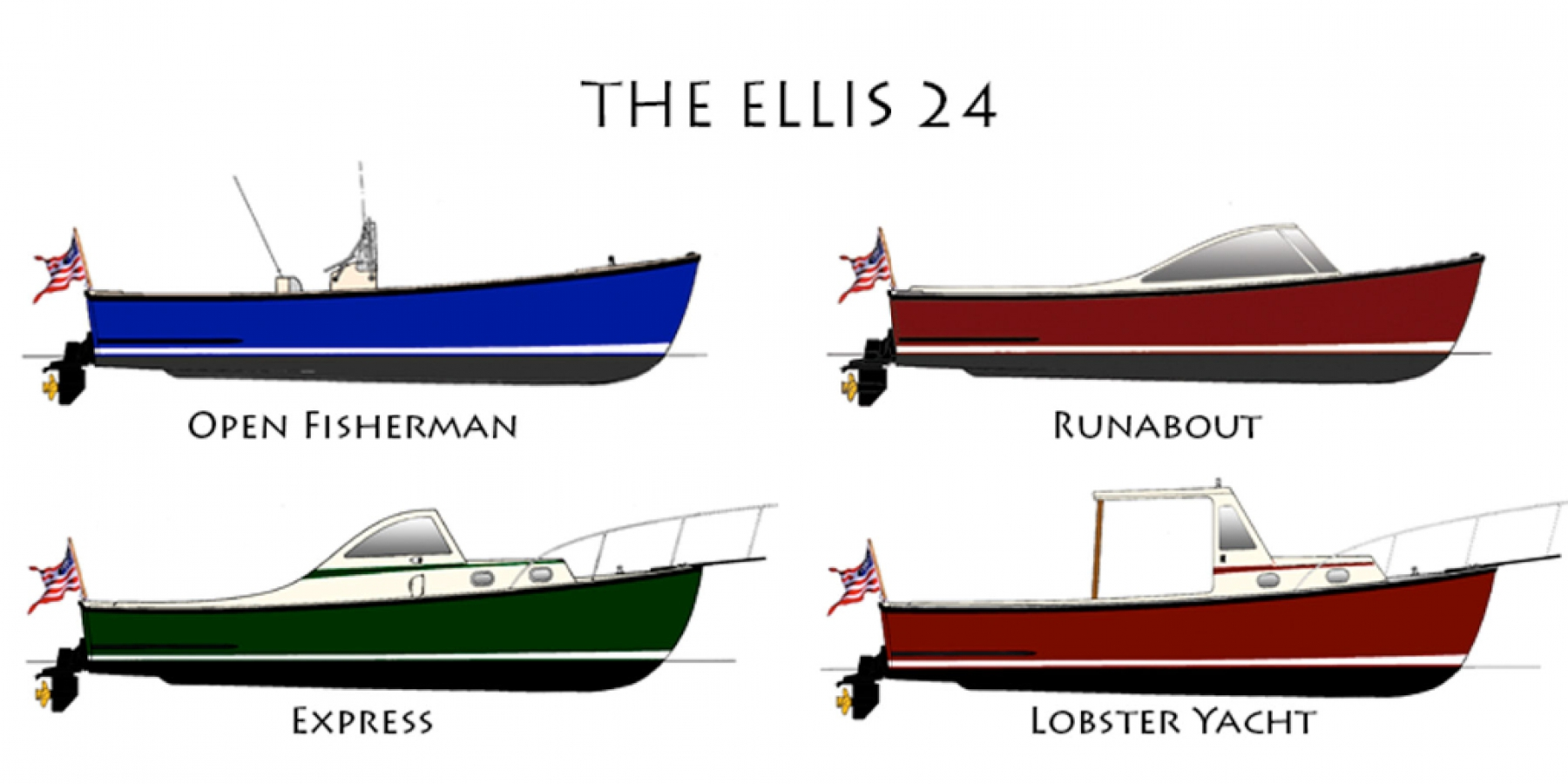 Ellis 24 Profiles - Four different Ellis 24 Models